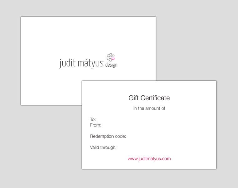 Jewelry Gift Certificate